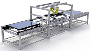Solar Panel Assembly System by Flexible Assembly